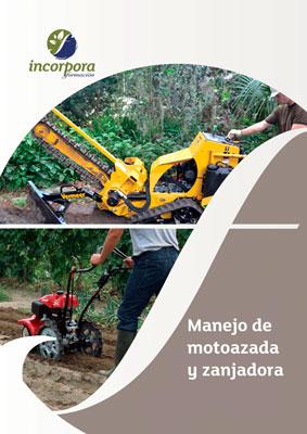 manejo de motoazada-zanjadora
